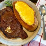 Photo of Cheddar Potato Soup Prepared with Steakhouse Seasoned Ribeye